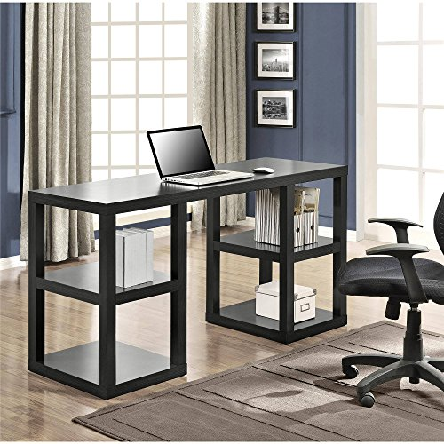 Wooden Double Pedestal Parsons Desk, large Workspace suitable for both laptop and computer use, Contemporary design, Good furniture for Office and Home use, Multiple Colors ( 60''W x 21-5/8''D x 32''H) by Mainstay