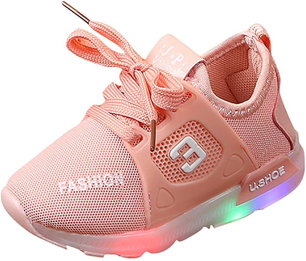 Toddler Baby LED Light Shoes Boys Soft Luminous Outdoor Sport Shoes Sneakers