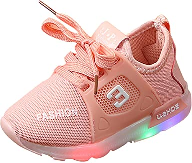 Baby Girls Light Weight Sneakers Running Shoe Soft Sole Princess Shoes