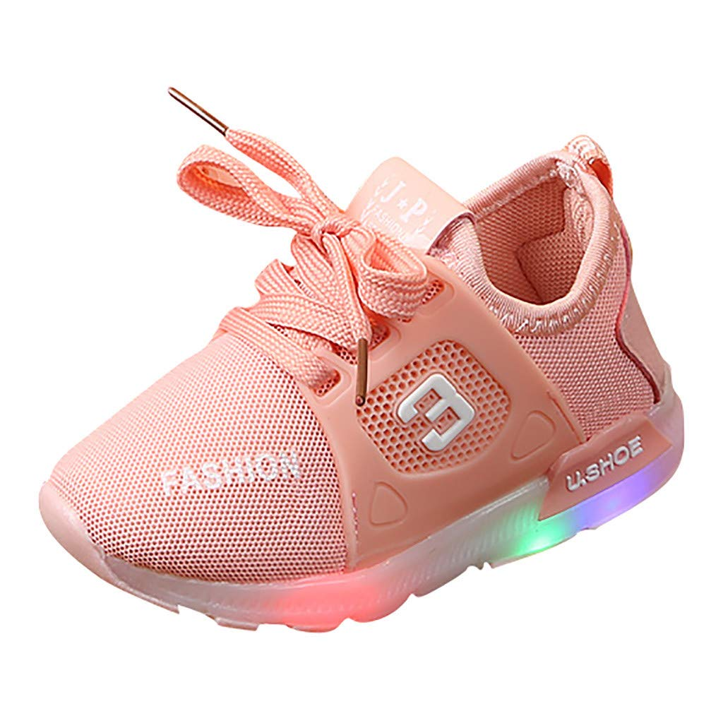 Cloudro Baby Led Mesh Sneaker Little Girl Luminous Light up Shoes for 1-6 Years