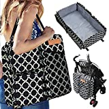Bateman Baby Backpack Bags with Travel Bassinet + Portable Changing Station + Play Mat - Best Nursery Carryall with XL Pockets