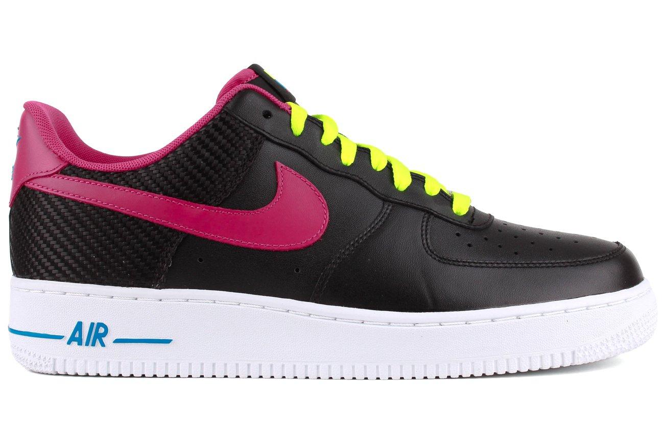 NIKE Air Force 1 Mens Basketball Shoes B008N8O840 12 B(M) US|Black/Fireberry