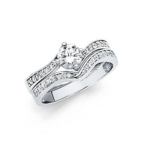 14K Solid White Gold 1.00 cttw...