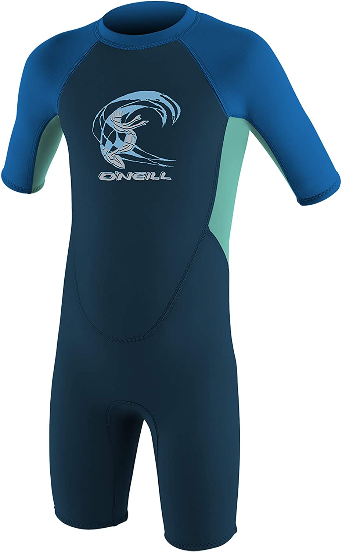 Slate//Sky//Ocean Age 4 ONeill Wetsuits Kids Toddler Reactor 2mm Back Zip Shorty Wetsuit