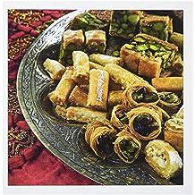 3dRose Arabic cuisine, food, arabic biscuits - LI11 NTO0000 - Nico Tondini - Greeting Cards, 6 x 6 inches, set of 6 (gc_83267_1)
