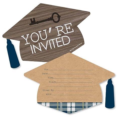 Grad Con Forma De Llaves Para El éxito Llenar Invitaciones