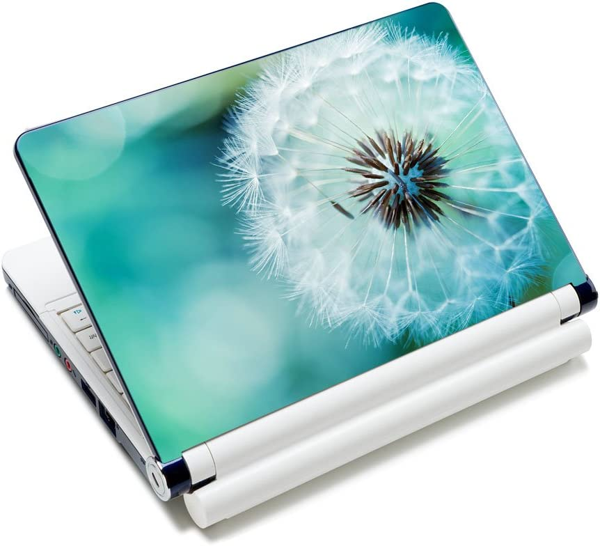 """Laptop Skin Sticker Decal,12"""" 13"""" 13.3"""" 14"""" 15"""" 15.4"""" 15.6 inch Laptop Skin Sticker Cover Art Decal Protector Notebook PC (Dandelion)"""