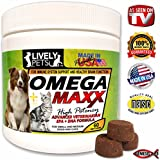 Lively Pets Omega Maxx High Potency Best Fish Oil Dogs Treats Sensitive Skin - Dog Food Healthy Skin Supplement and Omega 3 Dog Fish Oil - Skin and Coat and Heart Health