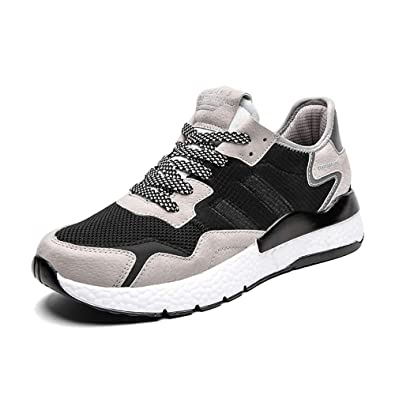7d5dab794d215 Ahico Running Shoes Women Sneaker Ultralight Causal Lightweight Breathable  Walking Shoe Black Size 6.5