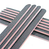 board Nail Files Black Straight Nail file Double Sided Emery Board Professional Nail Tools