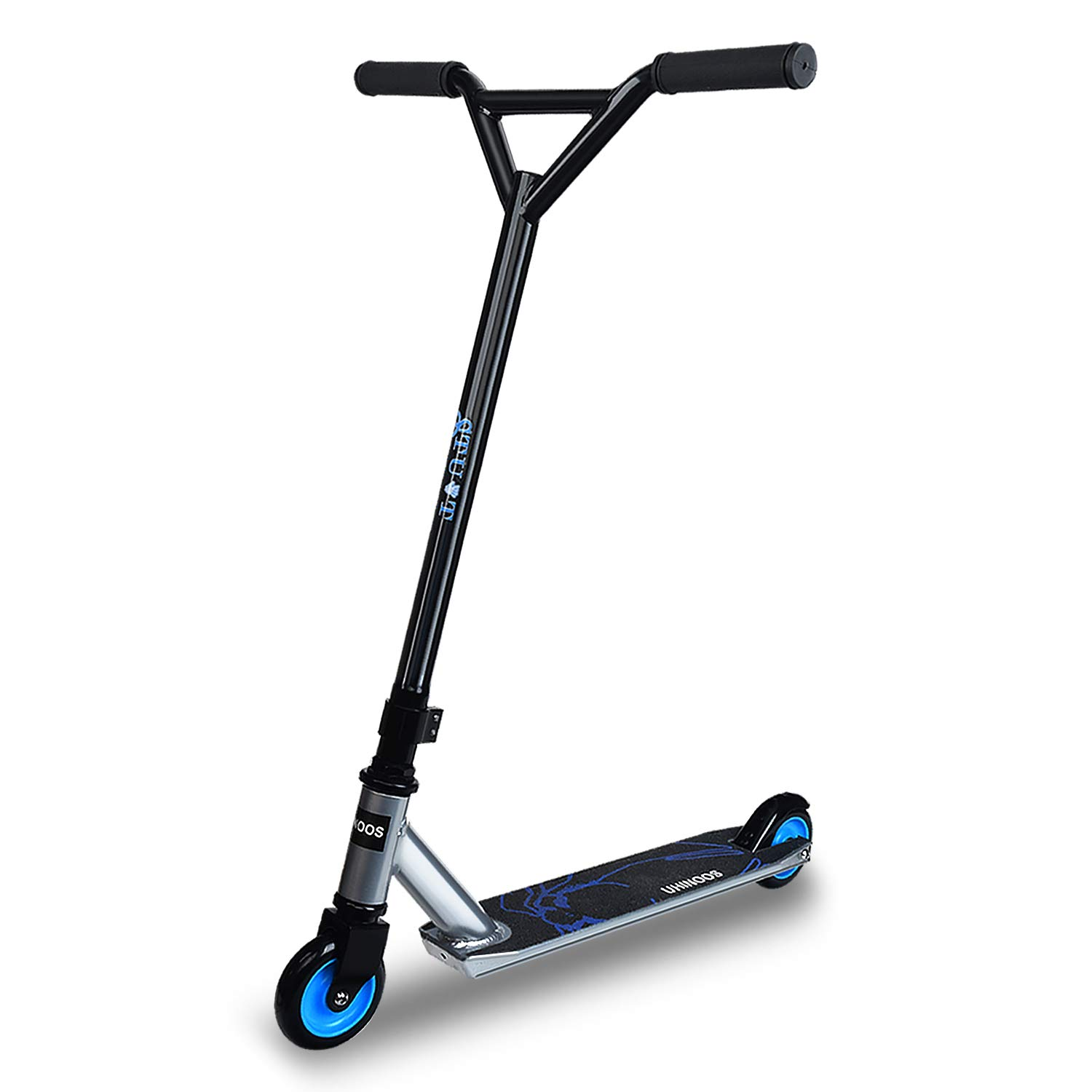 UHINOOS Stunt Scooter Pro Scooters for Beginners Best Trick Stunt Scooter with Stable Performance Freestyle Kick Scooter for Boys and Girls(Black and Silver) by UHINOOS