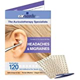 Earseeds Headache and Migraines Ear Seed Kit, Stainless Steel Tweezer, 120 Count