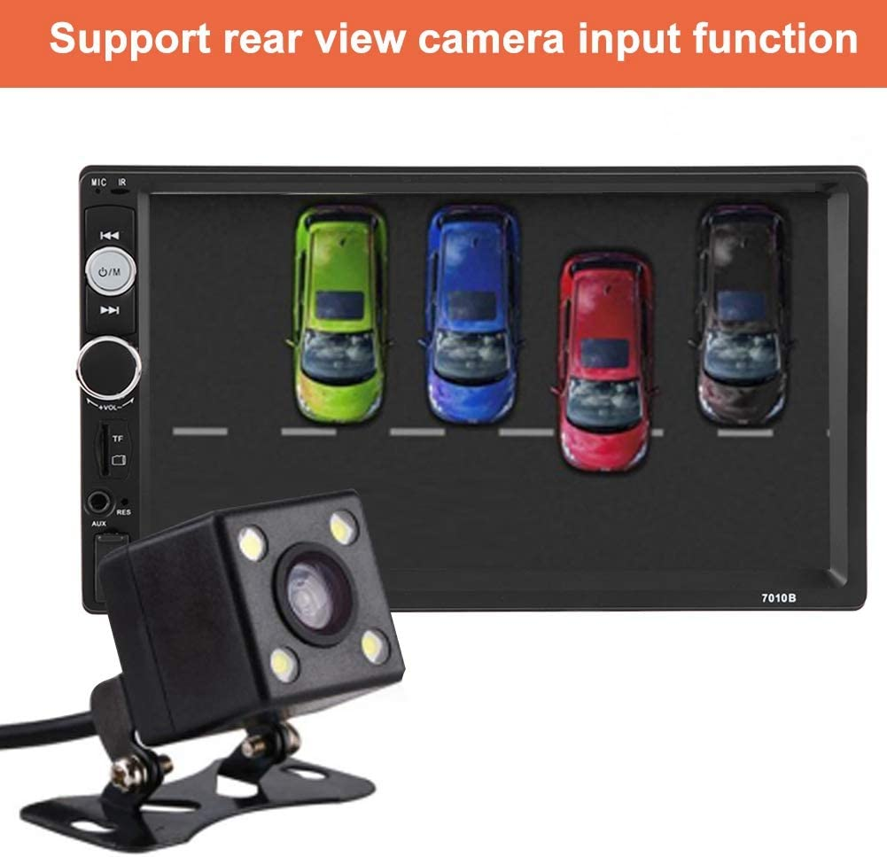 Lettore MP5 per auto 7 pollici HD Doppio Din Bluetooth Lettore MP5 per auto Radio FM Telecomando USB Telecamera per retromarcia