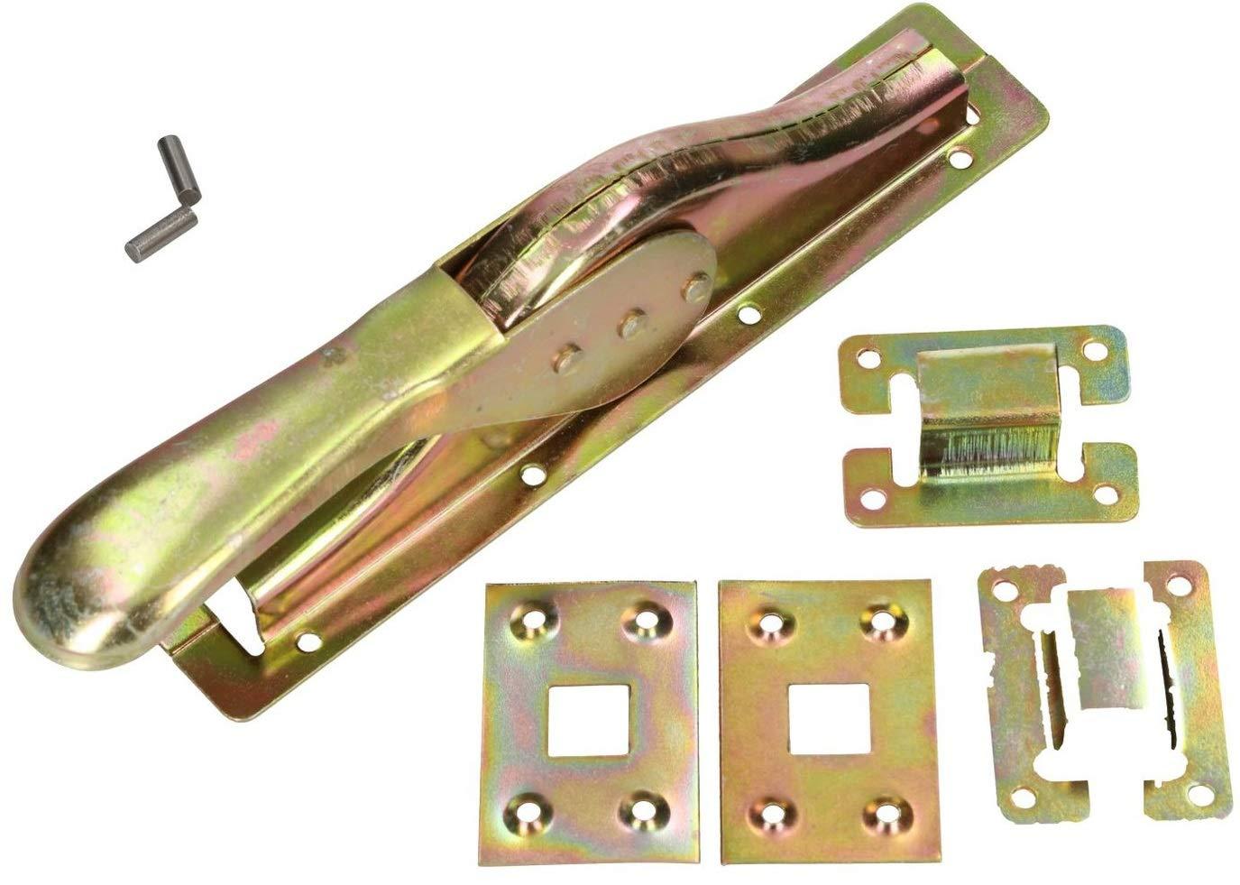 Tortreibriegel Torverschluss 2500 mm Torverrieglung Garagenschloss Torflügel Set