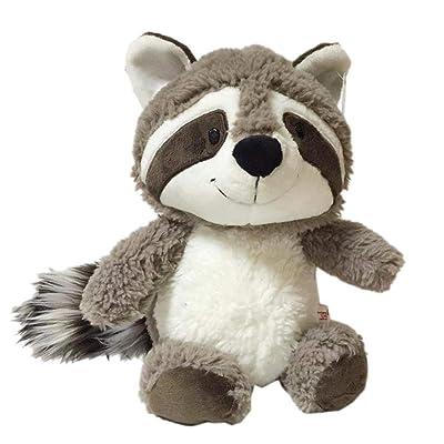Aisoway Cojín Gris del Mapache Juguete de Felpa Suave Animales de Peluche muñeca Almohada para Niños Bebés y Niños: Juguetes y juegos