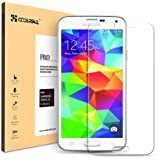 Coolreall Ultra-klar Panzerglas Schutzfolie für Samsung Galaxy S5 (0,33mm)