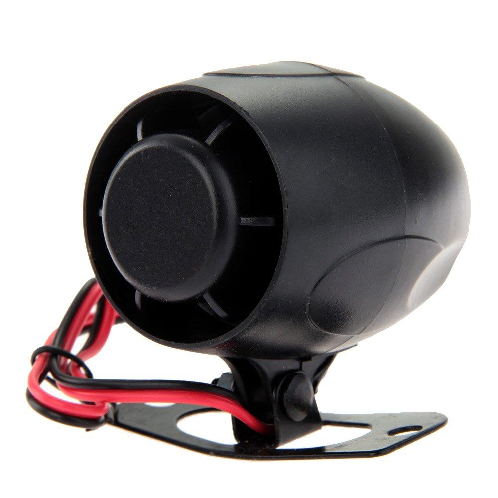 Gaoominy Sirena Alarma Audible de recordatorio 120dB 12V para Coche Alarma Auto Universal Bicicleta Negro