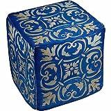 Thumbprintz Blue Mosaic Pouf, 18'' x 18'' x 18''