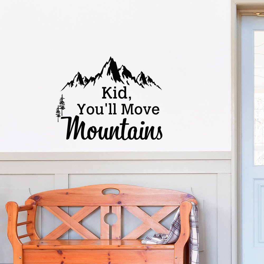 mountain wall decal dr seuss quote kid you ll move mountains kids mountain wall decal dr seuss quote kid you ll move mountains kids wall decals quotes rustic wall decor bedroom nursery wall art sayings q285 amazon com