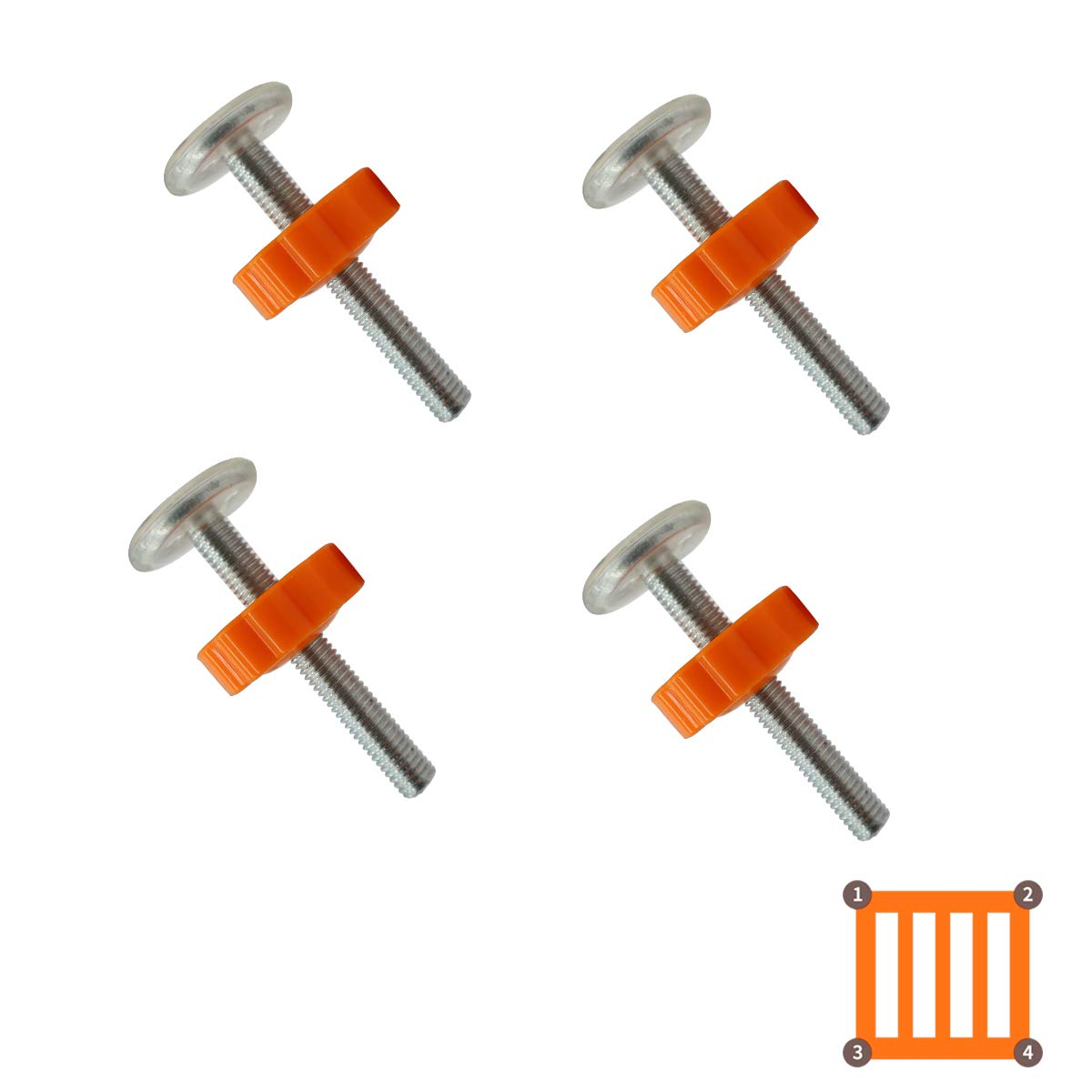 10mm Spindle Rods for Pressure Mounted Gates Replacement Set 4 Pack of M10 Spindle Screw Bolts for Baby and Pet Safety Gates Black KiraKira Baby gate Screw Bolts 4pcs M10