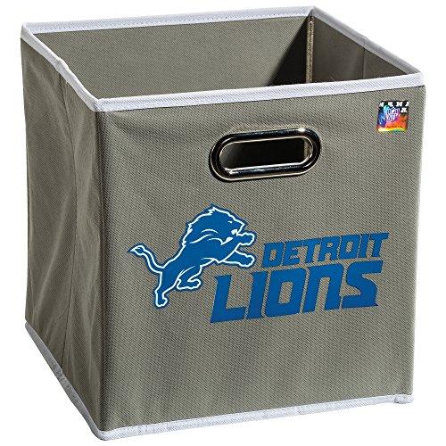 Franklin Sports NFL Detroit Lions Fabric Storage Cubes - Made To Fit Storage Bin Organizers (11x10.5x10.5