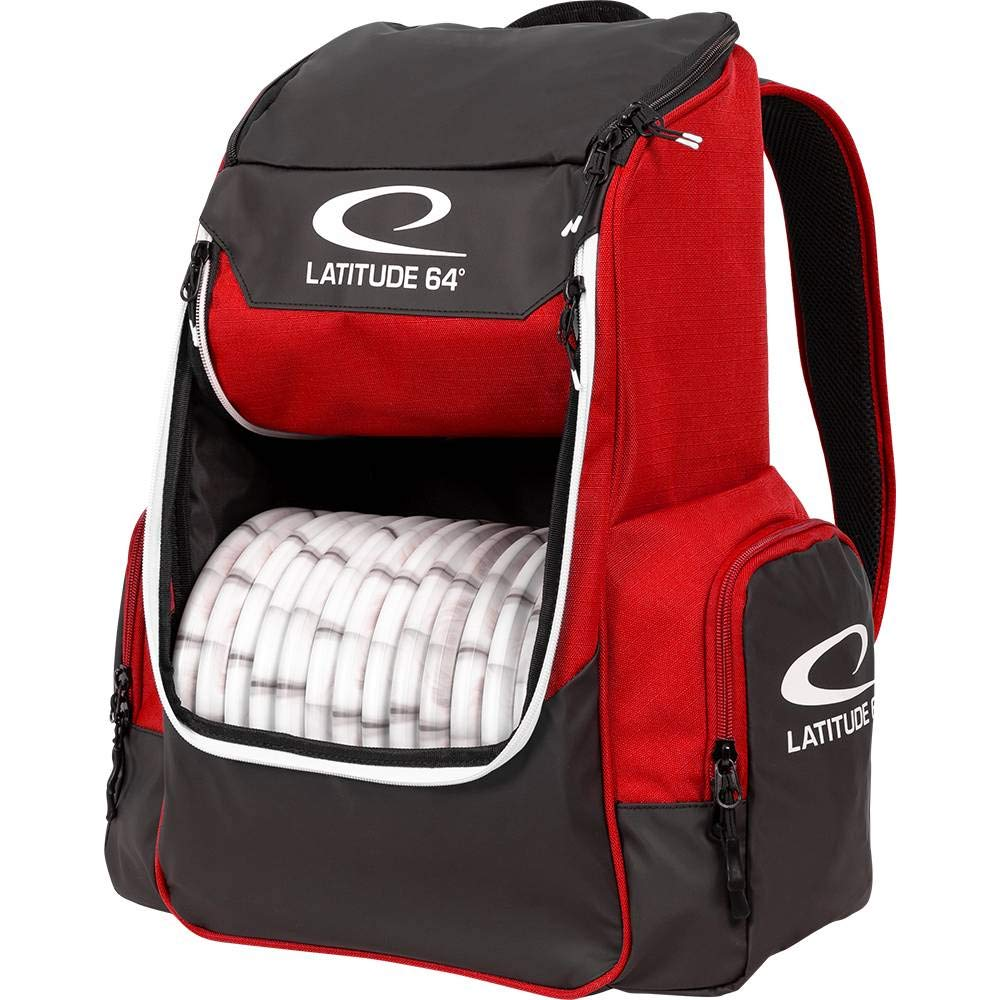 Latitude 64 Golf Discs Core Backpack Disc Golf Bag - Red by Latitude 64