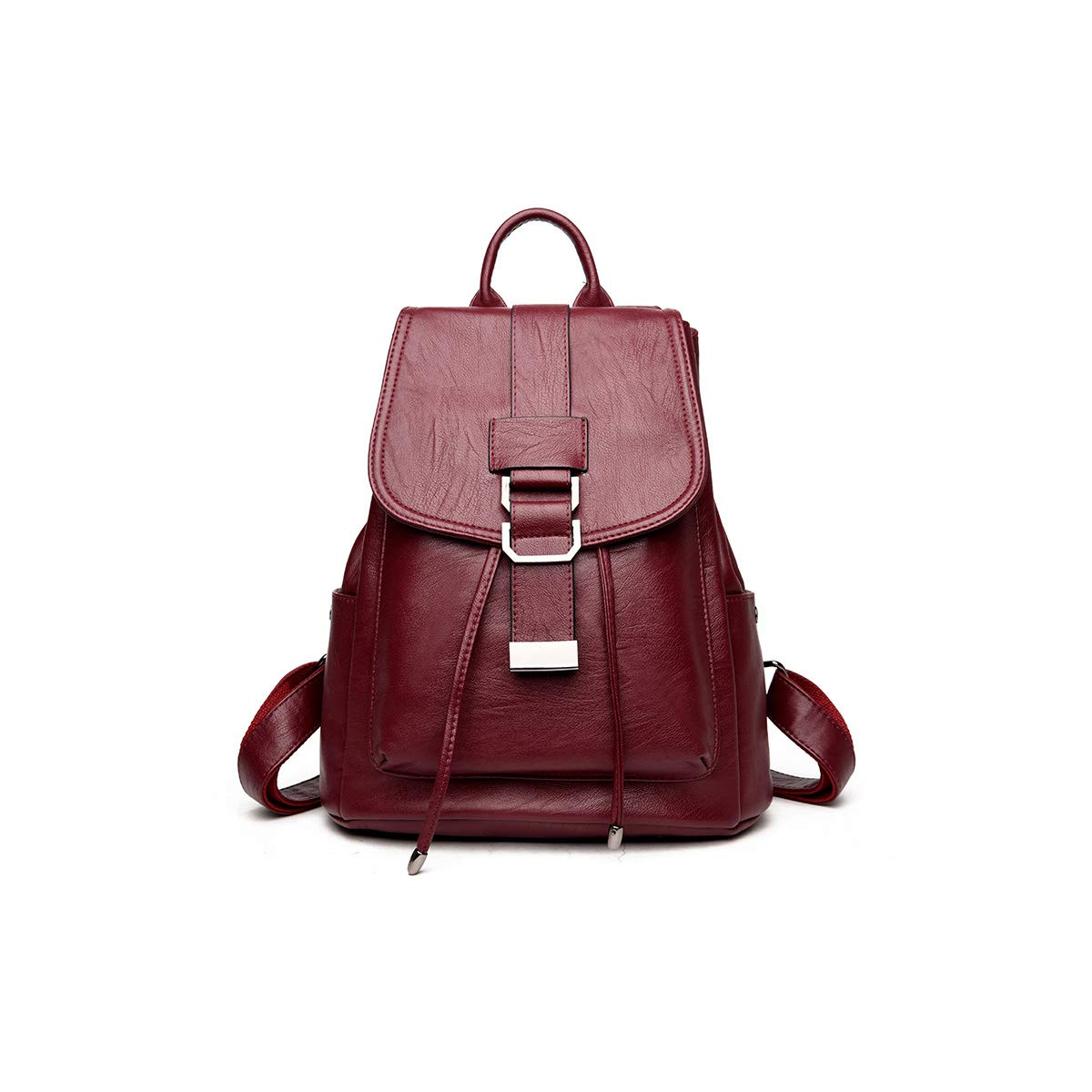 PU Leather 2019 New Hengtongtongxun Girls Multifunctional Backpack for Daily Travel//Outdoor//Travel//School//Work//Fashion//Leisure Simple and Stylish Black//Blue//Red//Purple//Bronze