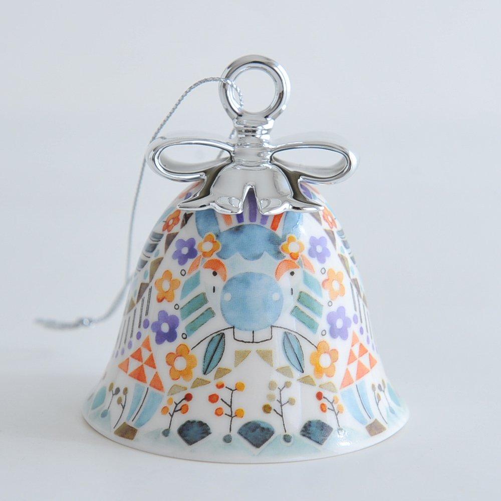Alessi MW40 D/écoration de No/ël 6 anges en porcelaine multicolore