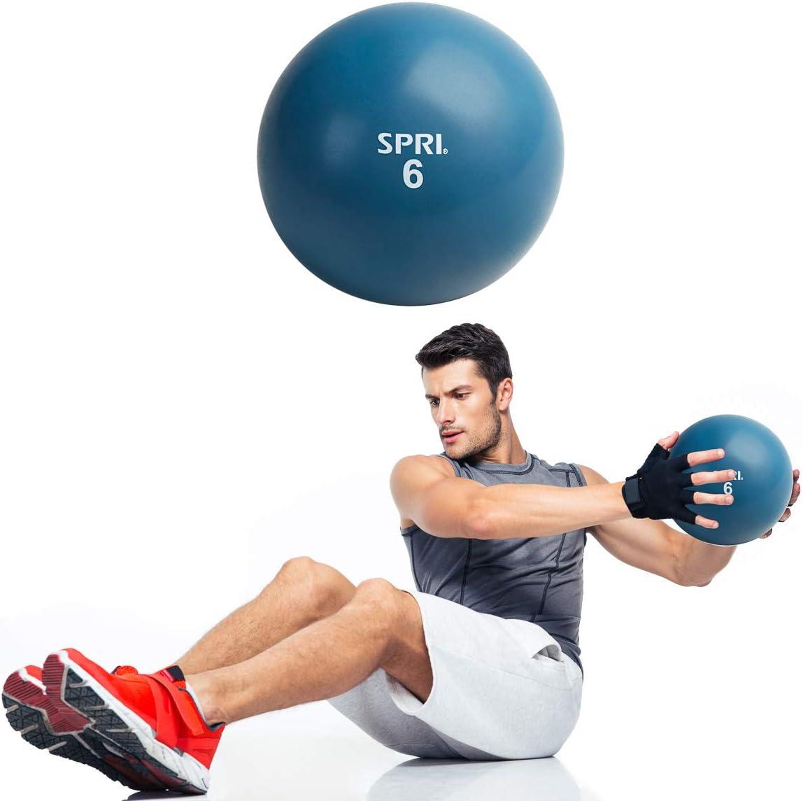 SPRI 6 LB Soft Toning Ball Hand Held Medicine Ball for Exercise Women Men Fitness Strength Training Equipment: Health & Personal Care