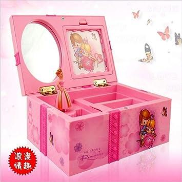Cajas Musicales Dream Girl Caja De Música Caja De Joyería Musical para Niños Rectángulo con Caja De Música De Bailarina Rosa Joyero como Regalo para El ...