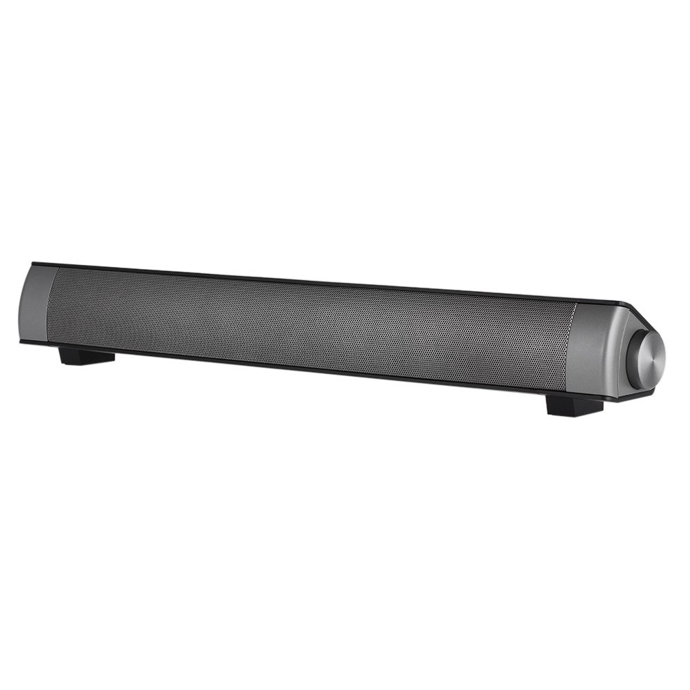 Wireless BT Soundbar,Subwoofer Stereo Speaker Home Theater Music Player with Remote Control Hands-Free TF Card Slot AUX-IN,Black
