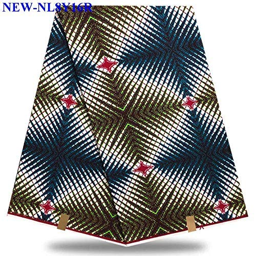 (Fabric African  100% Cotton Holland Wax Hollandais Wax Fabric Print Fabrics for Wedding Dress  by)