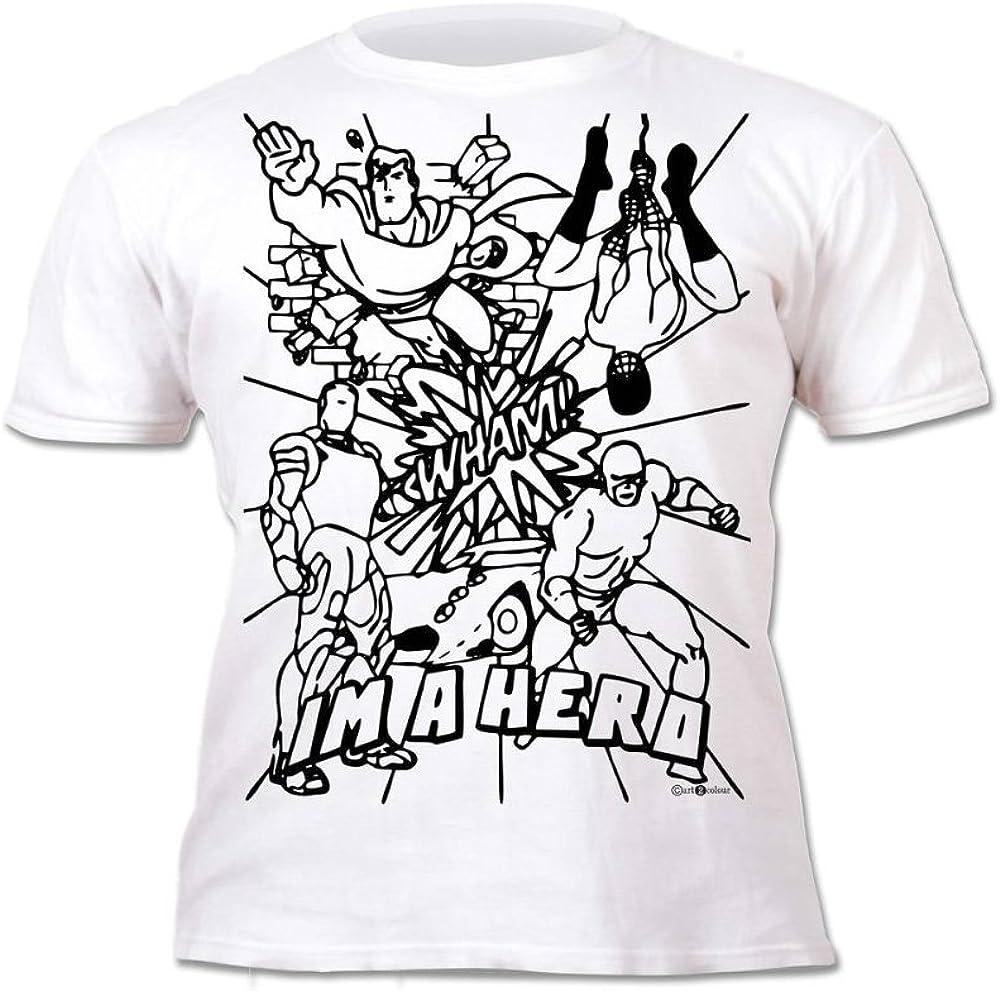 Splat Planet Camiseta Niños Chicos Superhéroes. con Imagen ...