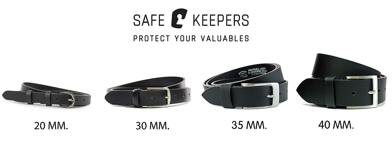 04b6f68aa8f7 Safekeepers Ceinture Cuir - Nickelfree Boucle - Unisex Homme et Femme   Amazon.fr  Vêtements et accessoires