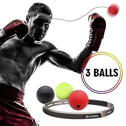 Amazon.com: GEJRIO Balón de boxeo Reflex en cadena con ...