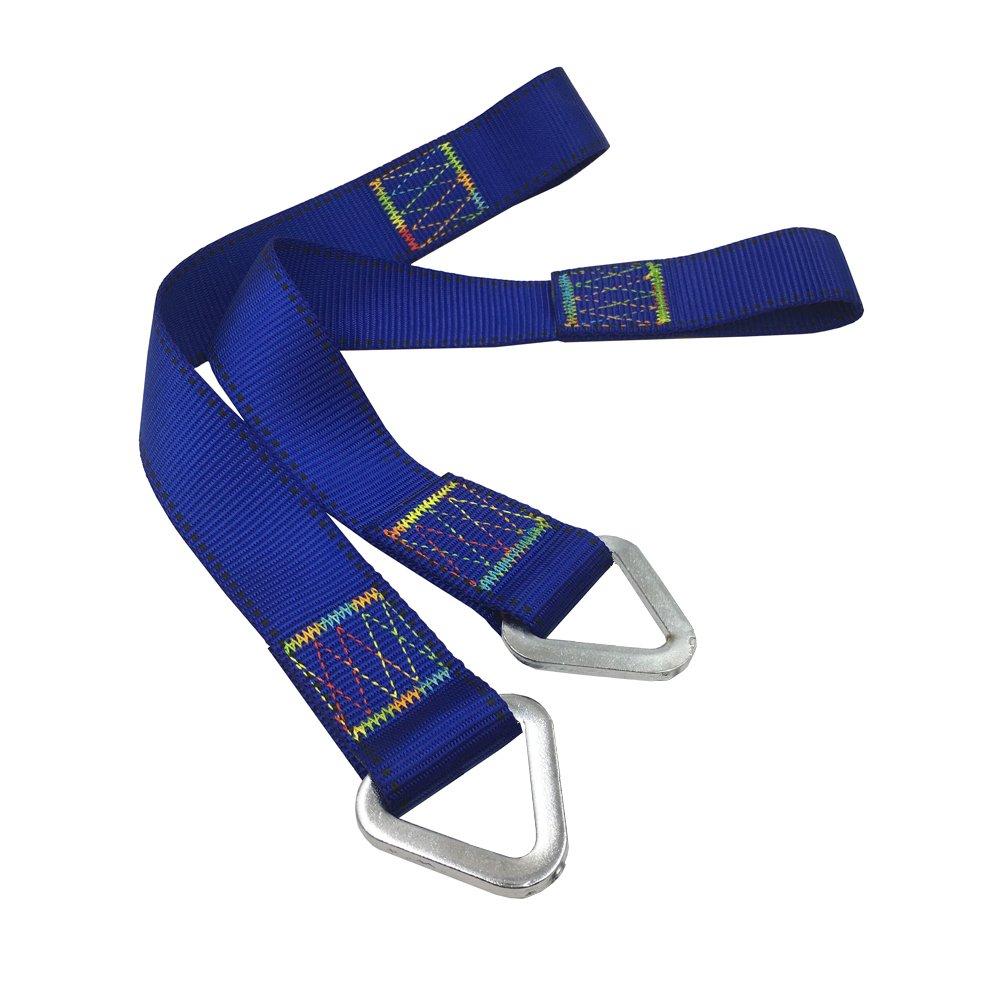 Aoneky 2-Pack Hammock Tree Straps, Heavy Duty Hanging Kit, Swing, Hammock Suspension Straps (1.6 ft, Blue)
