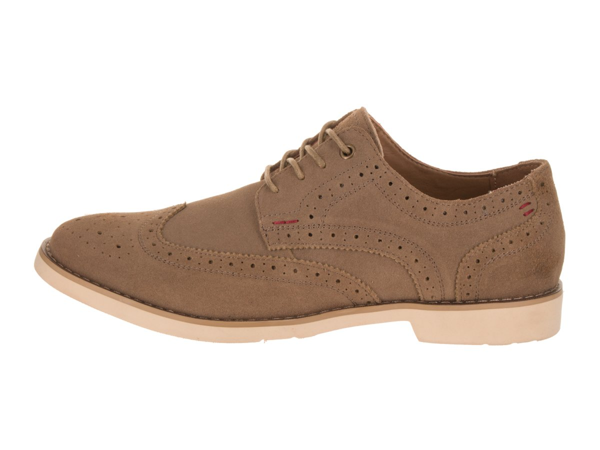 Hush Puppies Men's Fowler EZ Dress Oxford, Taupe Suede, 10 M US by Hush Puppies (Image #2)