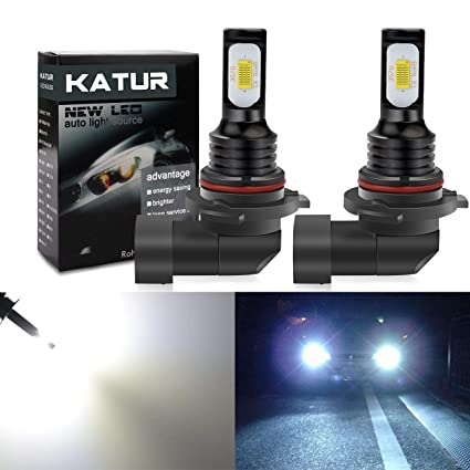 KaTur 9006 HB4 LED Fog Light Bulbs Extremely Bright 2400 Lumens Max 75W High Power LED