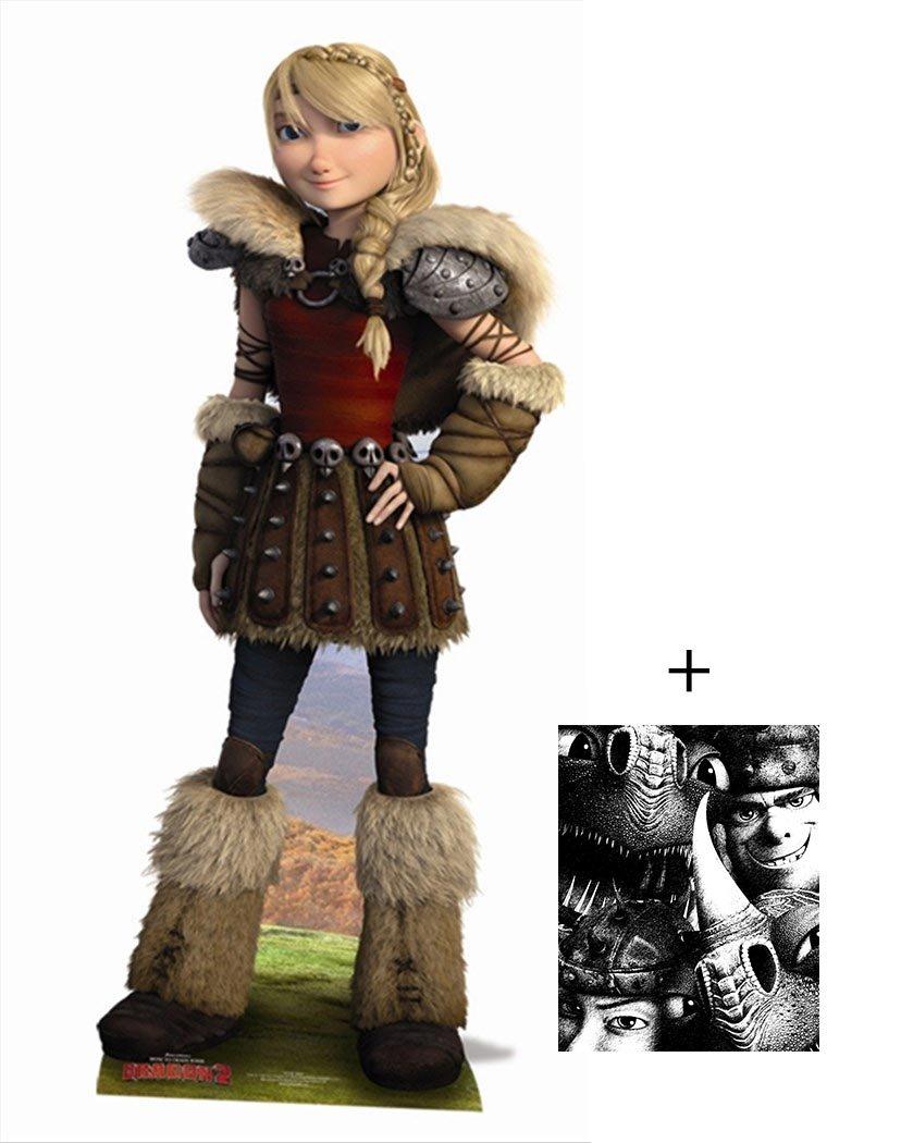 Fan Pack - Astrid de Dragons - How To Train Your Dragon 2 Grand Silhouette En Carton Standee / Stand-Up - Avec Star Photo (Dimensions 25x20 Cm) BundleZ-4-FanZ Fan Packs