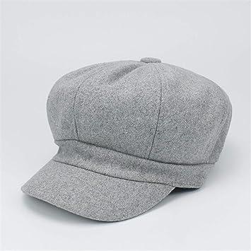 Retro Elegant Winter Female Beret Duckbill Ivy Cap Woman Girl Flat Cabbie  Newsboy Warm Hat Black 172a93b21245