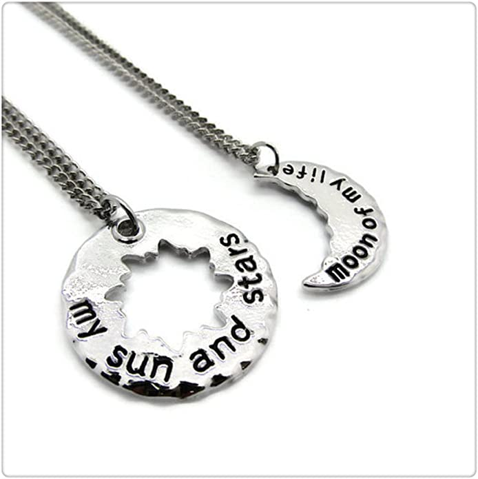 Matching set Her Her Celestial jewelry His His brass His Her You are my sun couples matching My sun Couples Gift aluminum Valentines day gift for her and him My moon You are my moon