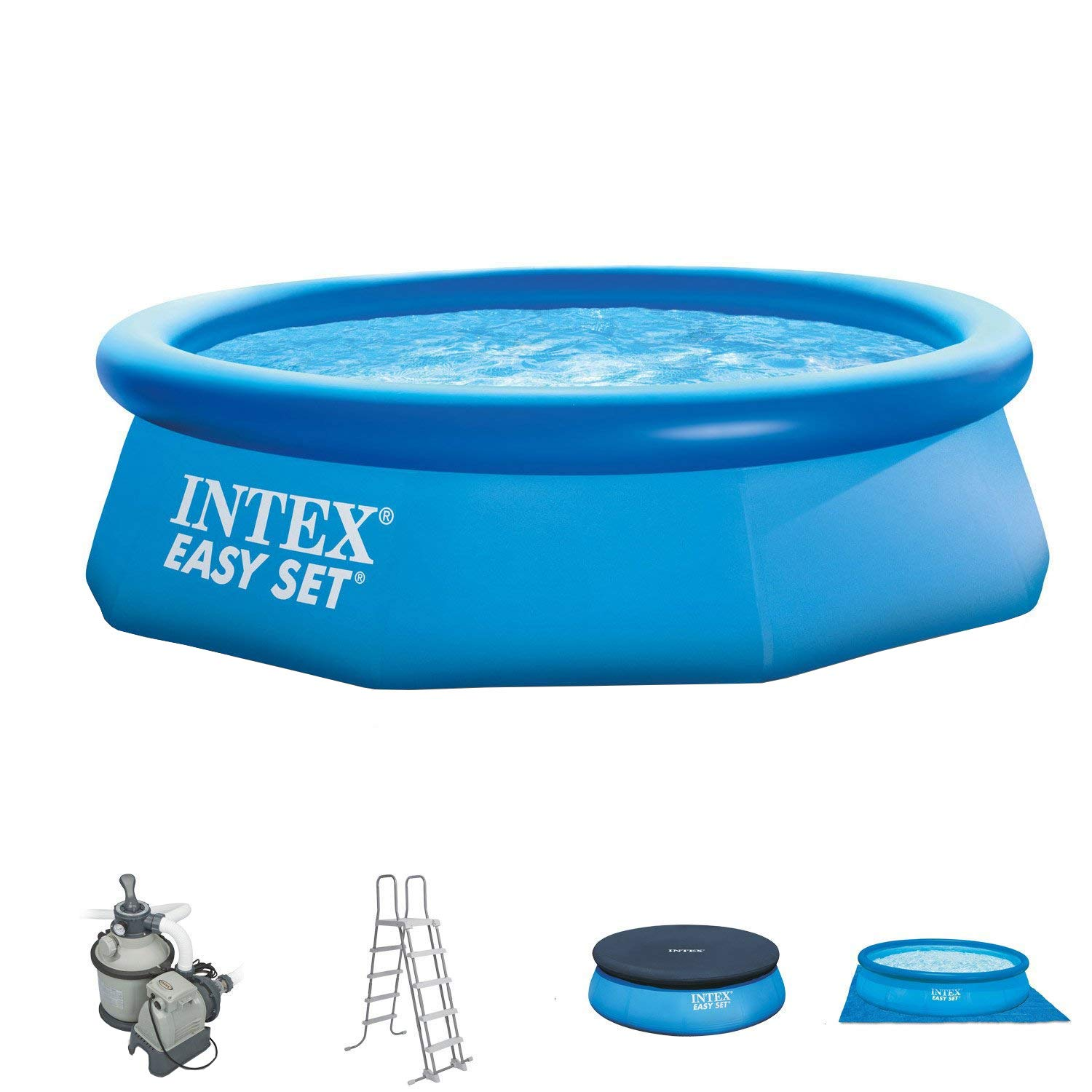 Intex 305 x 91 cm Easy Pool Juego completo incl. Filtro de arena ...
