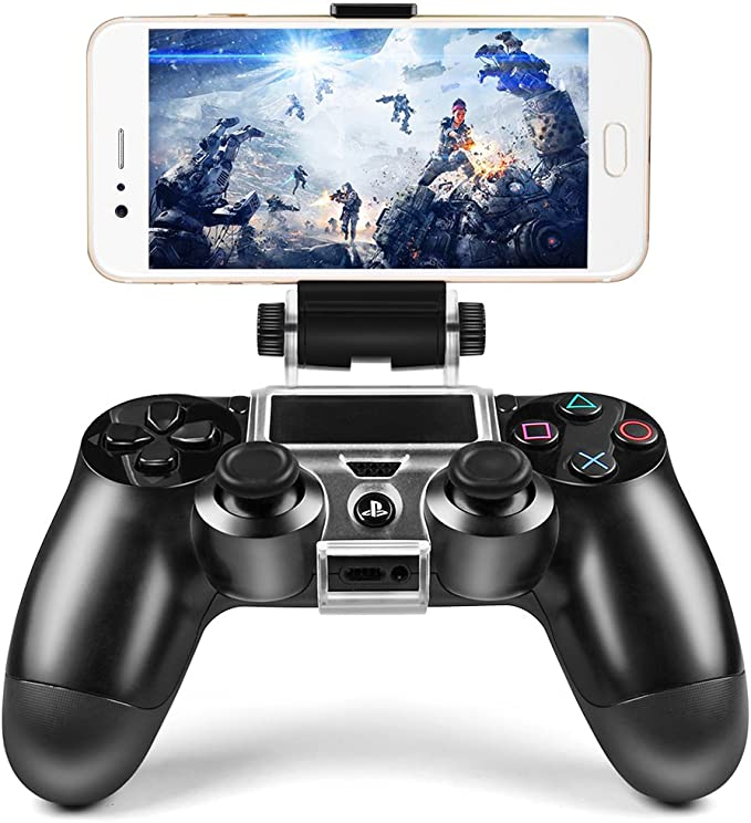 Amazon Com Icespring Phone Clip Holder Clamp Mount Stand Bracket For Playstation 4 Slim Pro Ps4 Wireless Controller Computers Accessories