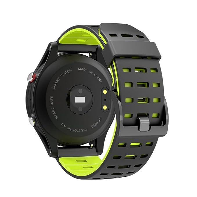 Reloj inteligente, ERVL924 F5 Smart Watch, IP67 impermeable GPS seguimiento reloj, reloj Bluetooth, reloj de detección de ritmo cardíaco: Amazon.es: ...