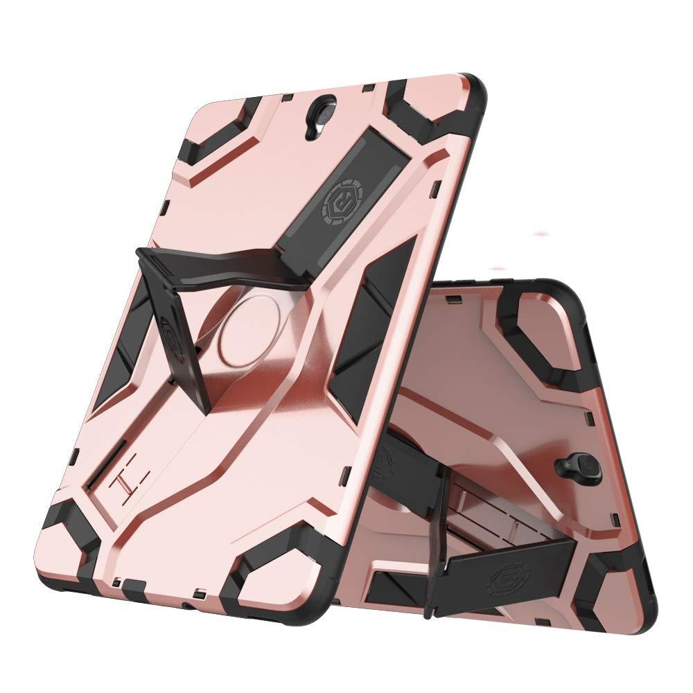 最新の激安 HHF フリップケース Samsung Samsung Galaxy Tab HongHeFu S3 9.7インチ用 B07NMS5PFD SM-T820/T825用 高耐久ハイブリッドアーマーディフェンダー 耐衝撃タブレットケース 折りたたみ式スタンド付き ハンドストラップ保護カバー, HongHeFu ローズゴールド B07NMS5PFD, マニライズ:eb833026 --- senas.4x4.lt