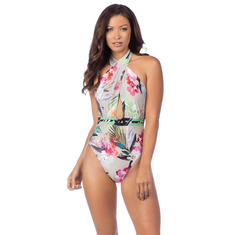 c6aadf04d9 One Pieces La Blanca Womens Beyond The Jungle Wrap Front Plunge One Piece  Swimsuit La Blanca ...