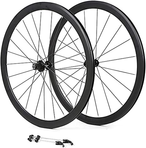 MZPWJD Juego Ruedas Bicicleta 700C Llanta Doble Pared 36mm Freno ...