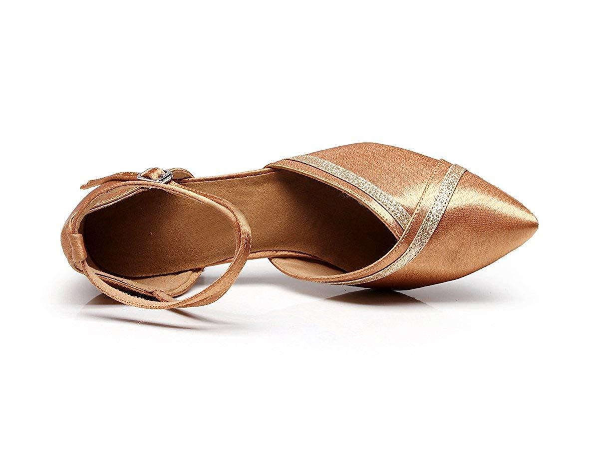Qiusa Qiusa Qiusa TJ7141 Damenmode 2 Low Heel Nude Satin Professionelle Tanzschuhe Hochzeit Pumpen UK 7,5 (Farbe   - Größe   -) 7d2488