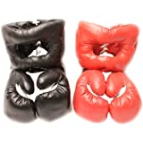 Red Corner VS. Black Corner Boxing Fight Set - Gloves and Headgear