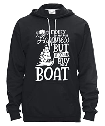 6712bda5 Amazon.com: I Love Boat T Shirt, It Could Buy Me A Boat Hooded ...